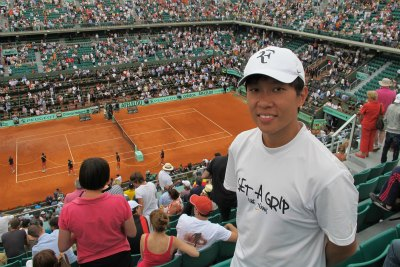 tennis coach in french open
