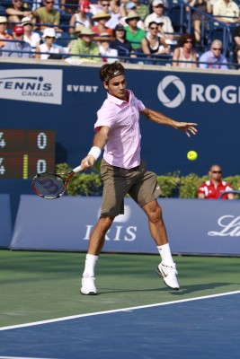 Roger Federer, all court player