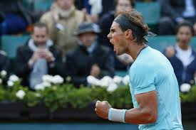 nadal reacting after a point