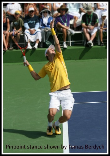 Tennis Serve Stance: Pinpoint or Platform Stance?
