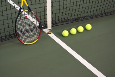 Tennis gear - balls and racket