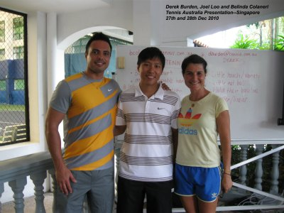 Tennis coach Singapore visiting Australia