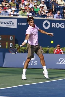 Roger Federer, all court player