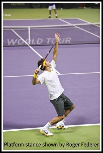 Tennis Serve Stance: Pinpoint or Platform Stance?